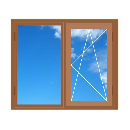 Дерев'яне вікно, двостулкове 1300 x 1400 Forest Line, 4-16-4i