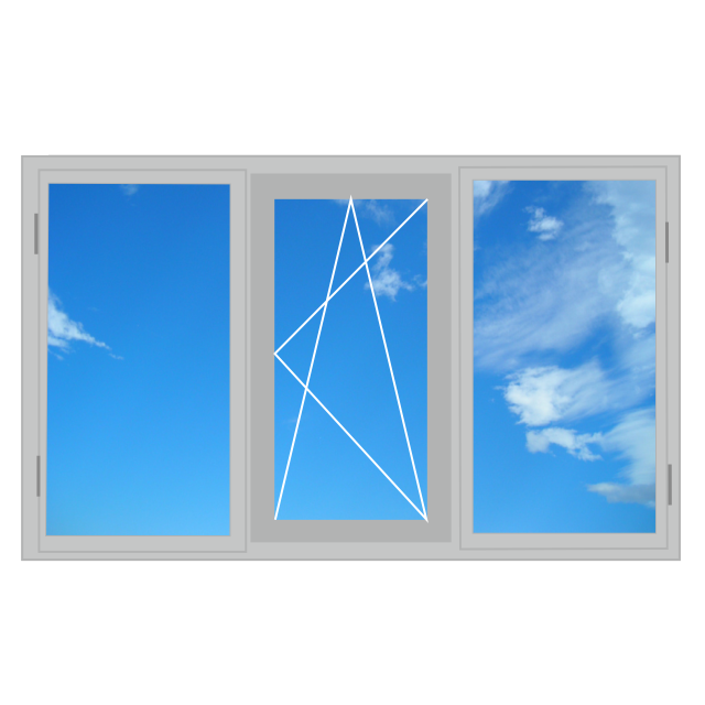 Алюмінієве вікно, двостулкове 2100 x 1400 теплий алюміній, 4-16-4і