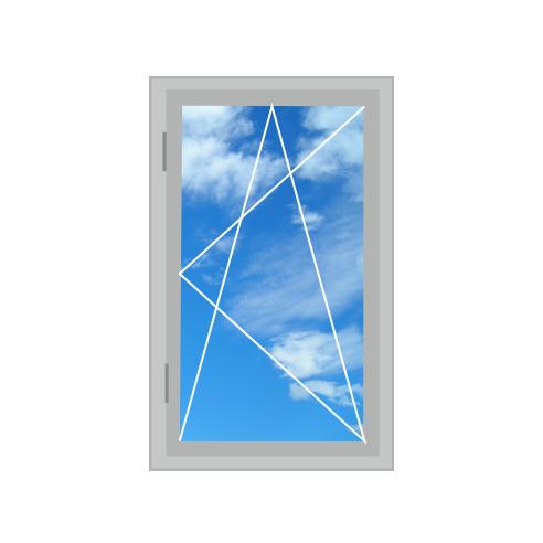 Алюмінієве вікно, двостулкове 700 x 1400 теплий алюміній , 4-16-4і