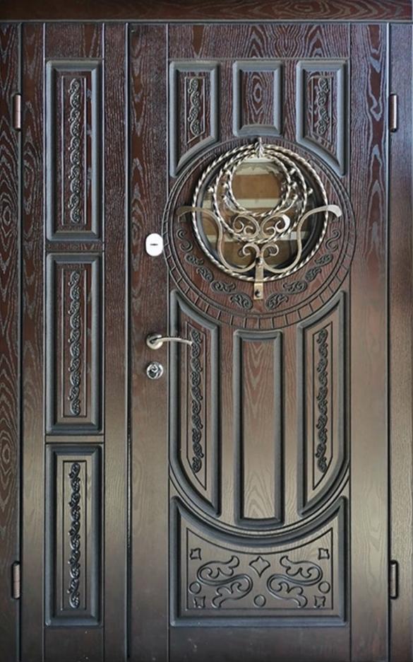 Двері вхідні ТМ «Lvivski Polimer» серія «Optima New » модель 10 1200х2050
