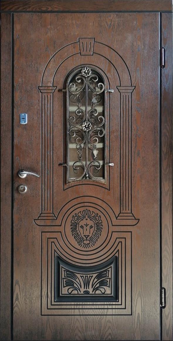 Двері вхідні ТМ «Lvivski Polimer» серія «Optima New » модель 12 860х2050