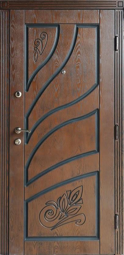 Двері вхідні ТМ «Lvivski Polimer» серія «Optima New » модель 7 960х2050