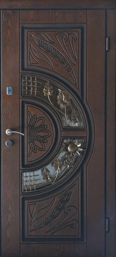 Двері вхідні ТМ «Lvivski Polimer» серія «Optima New » модель 8 960х2050