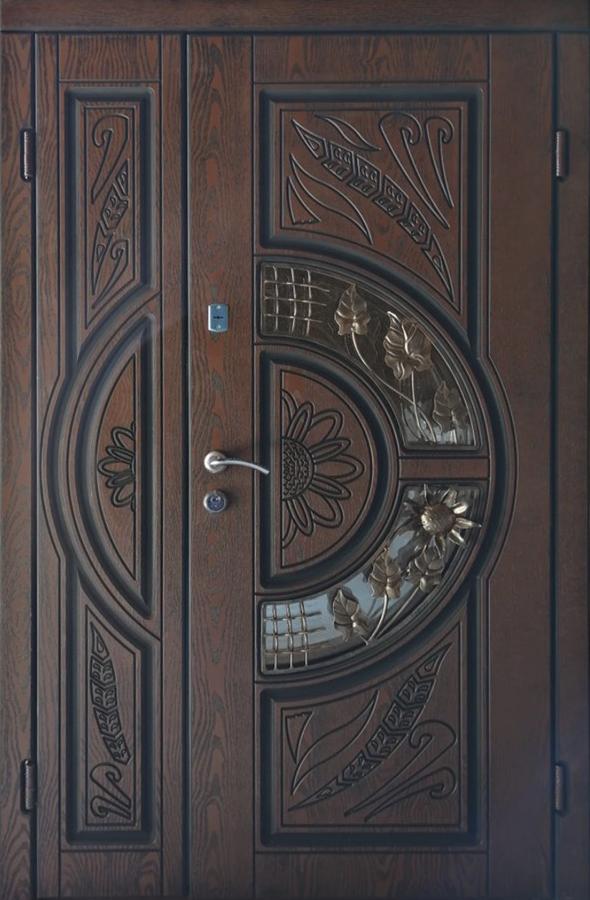 Двері вхідні ТМ «Lvivski Polimer» серія «Optima New » модель 8 1200х2050